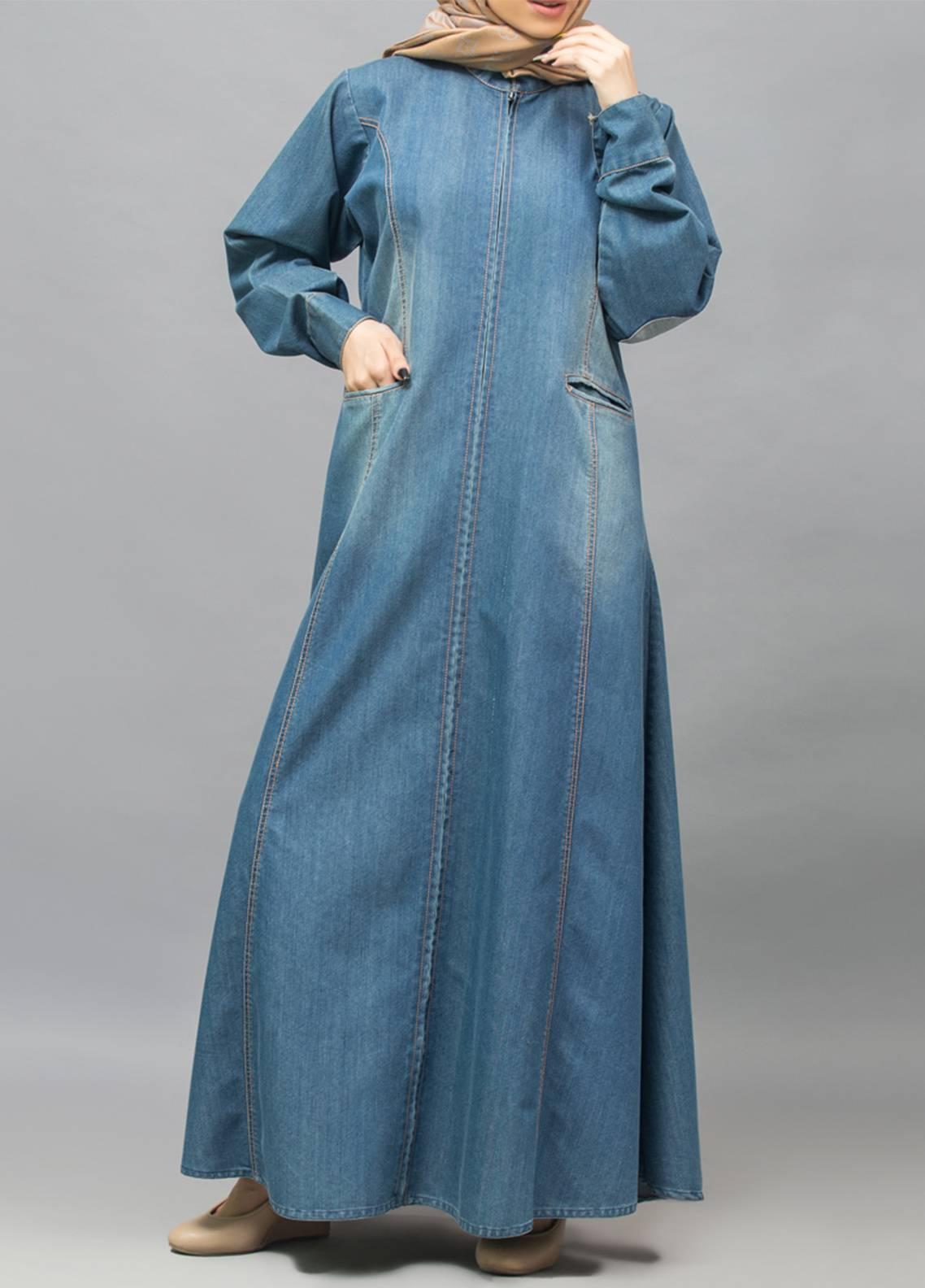 Hijab ul Hareem Front Open Style Stitched Abaya 0118-R-987