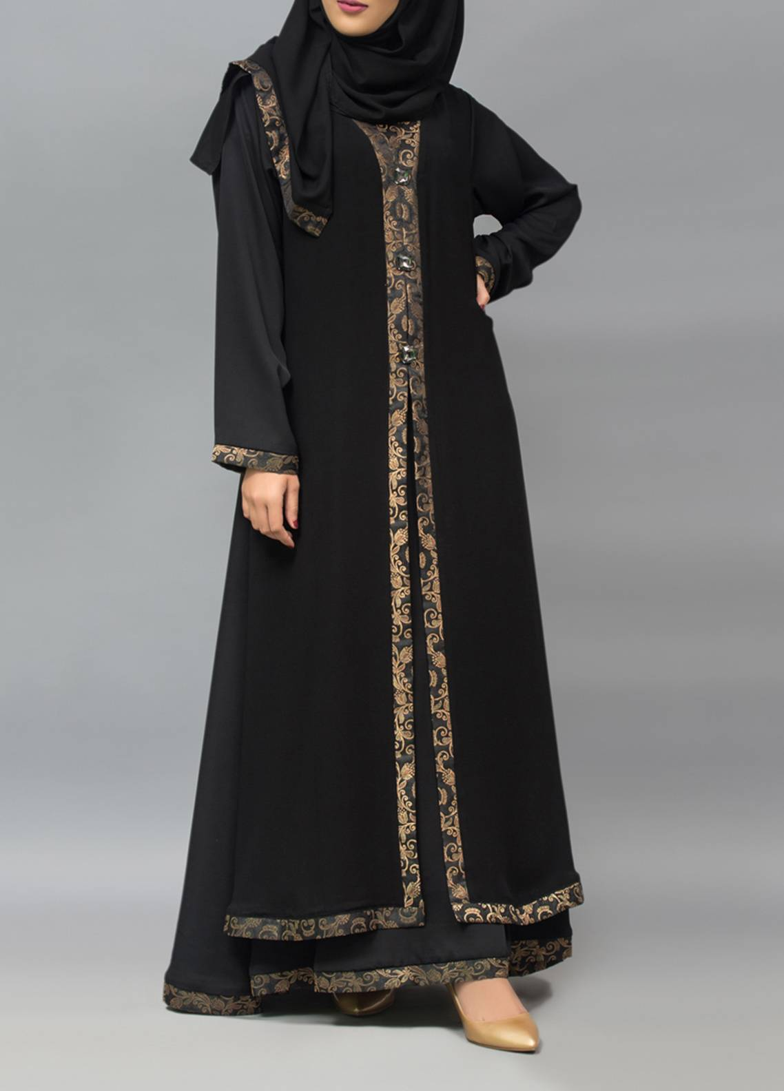 Hijab ul Hareem Pullover Stitched Abaya 0120-R-905