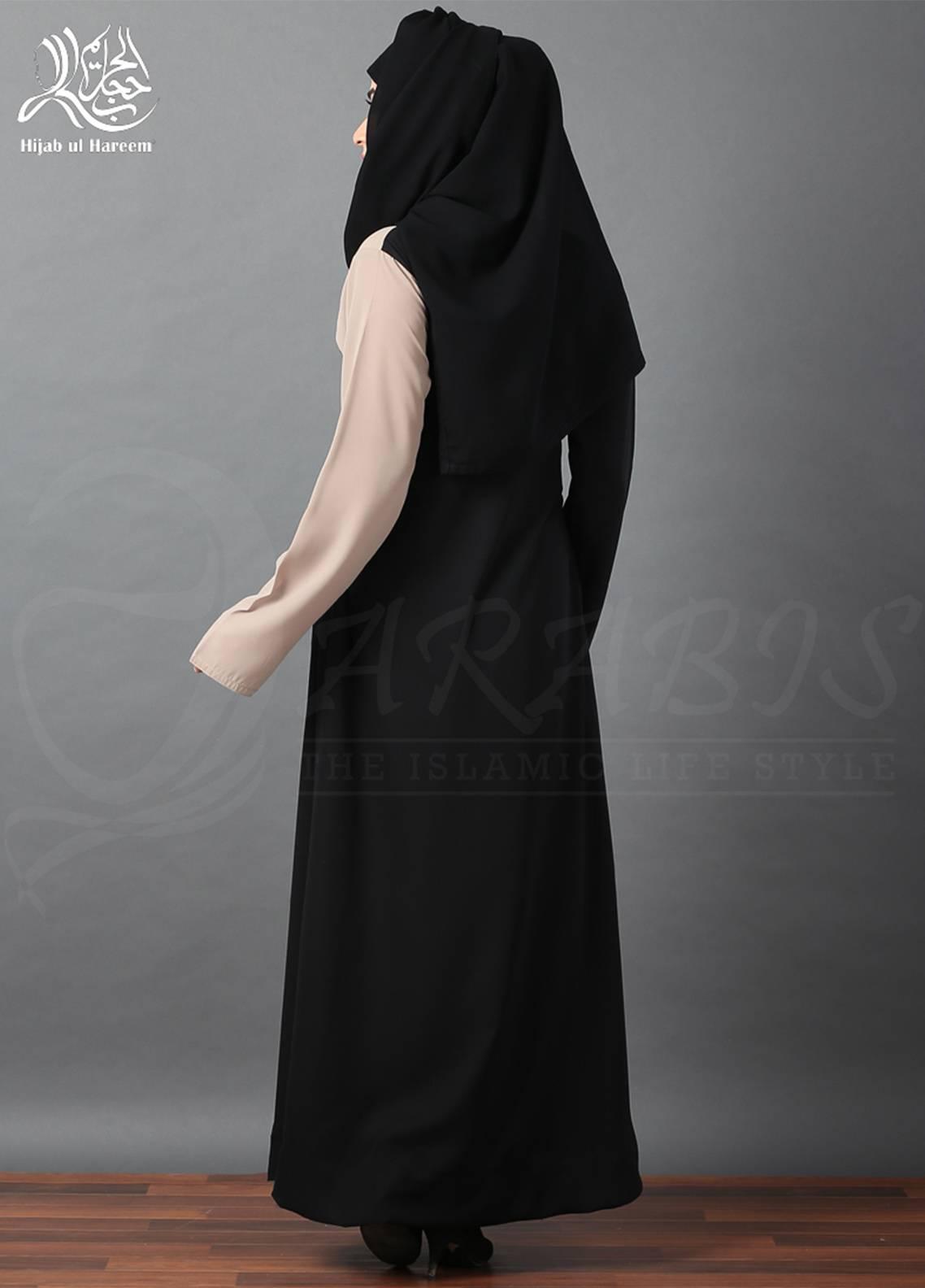 Hijab ul Hareem Pullover  Stitched Abaya 0120-R-A335