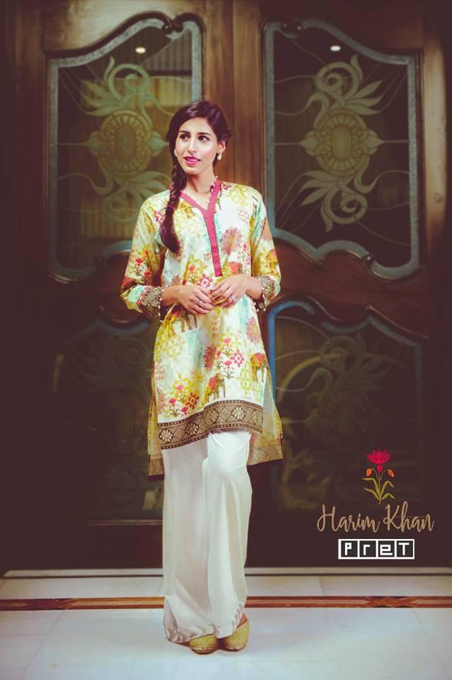 Harim Khan Printed Lawn Stitched Kurtis HK17E 003