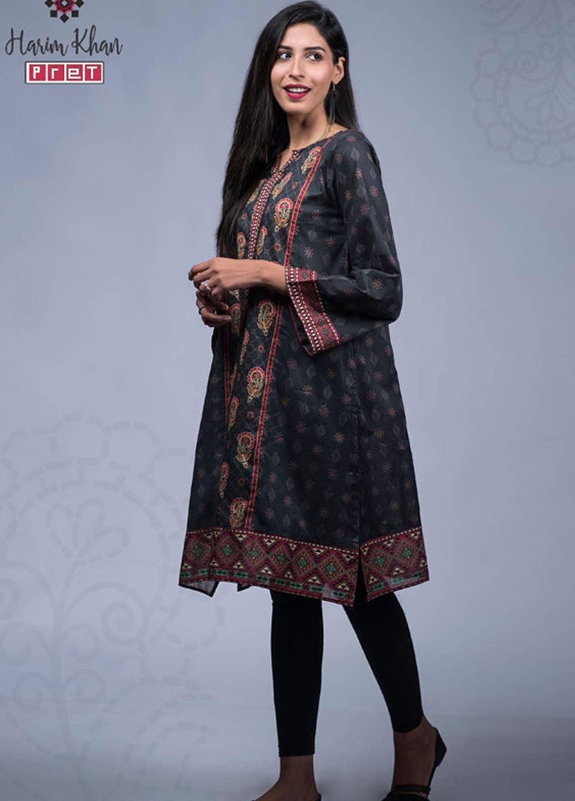 Harim Khan Printed  Stitched Kurtis HK17K 007