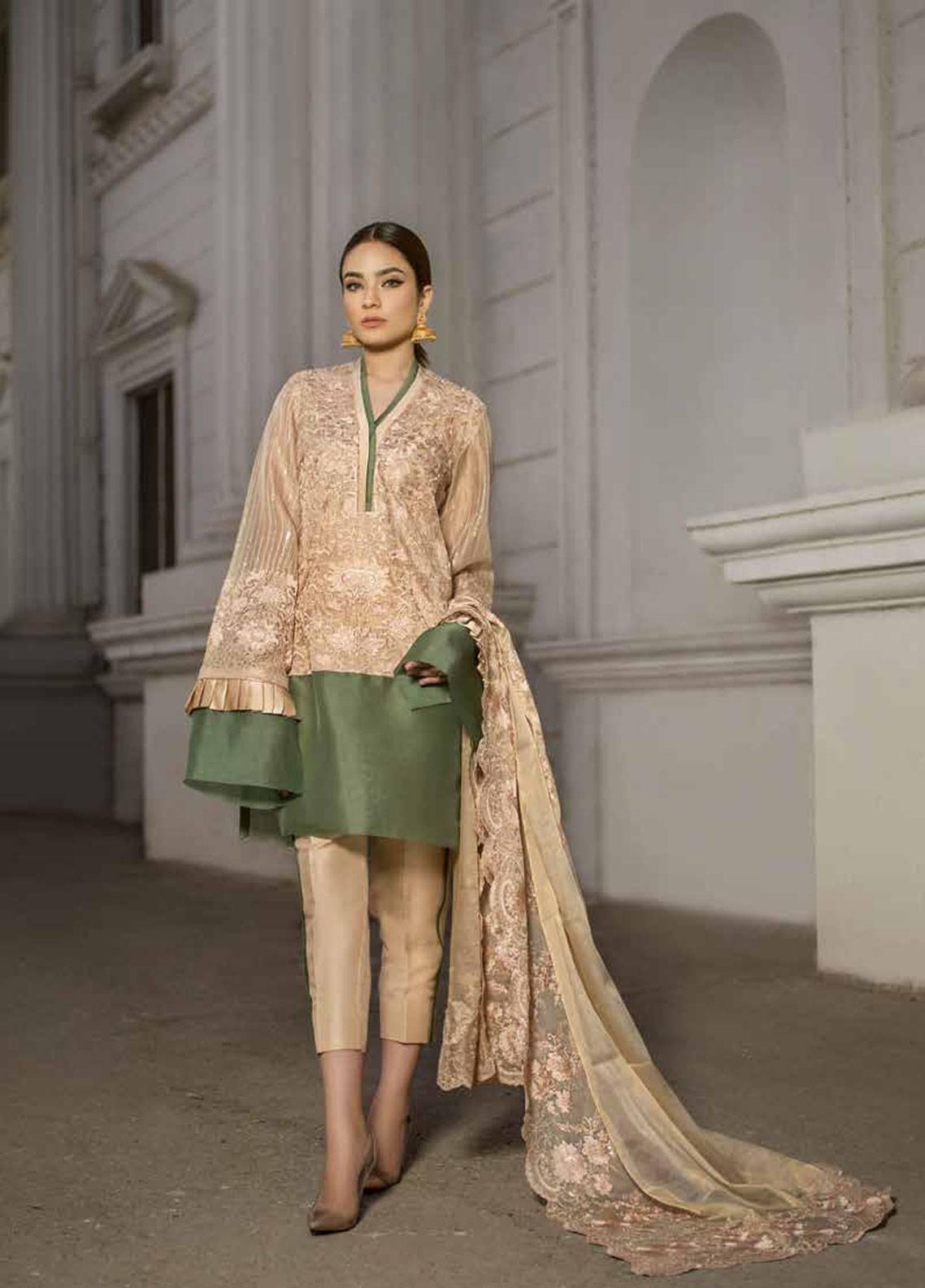 Honey Waqar By ZS Textile Embroidered Missouri Unstitched 3 Piece Suit HWC19EC 04 L'amour De Soi - Luxury Collection