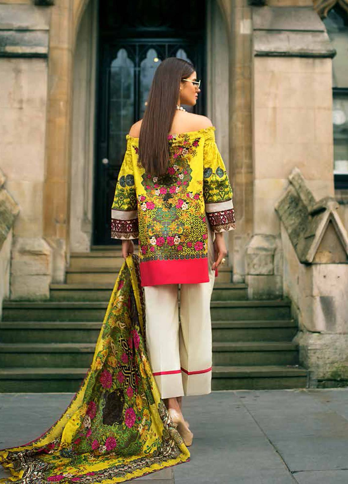 59c39e2ace Honey Waqar Embroidered Lawn Unstitched 3 Piece Suit HW19F 11A EAST SWEETS  - Festive Collection