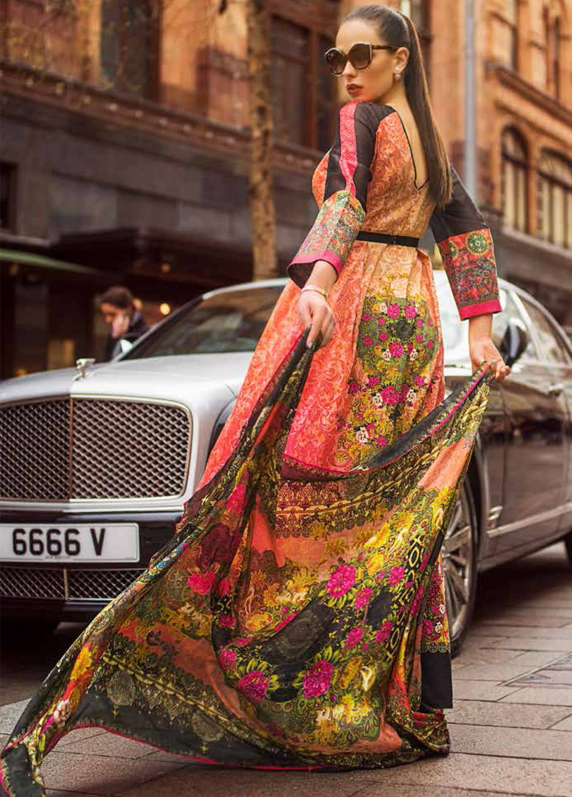 e6d6a3e7b1 Honey Waqar Embroidered Lawn Unstitched 3 Piece Suit HW19F 11B EAST SWEETS  - Festive Collection