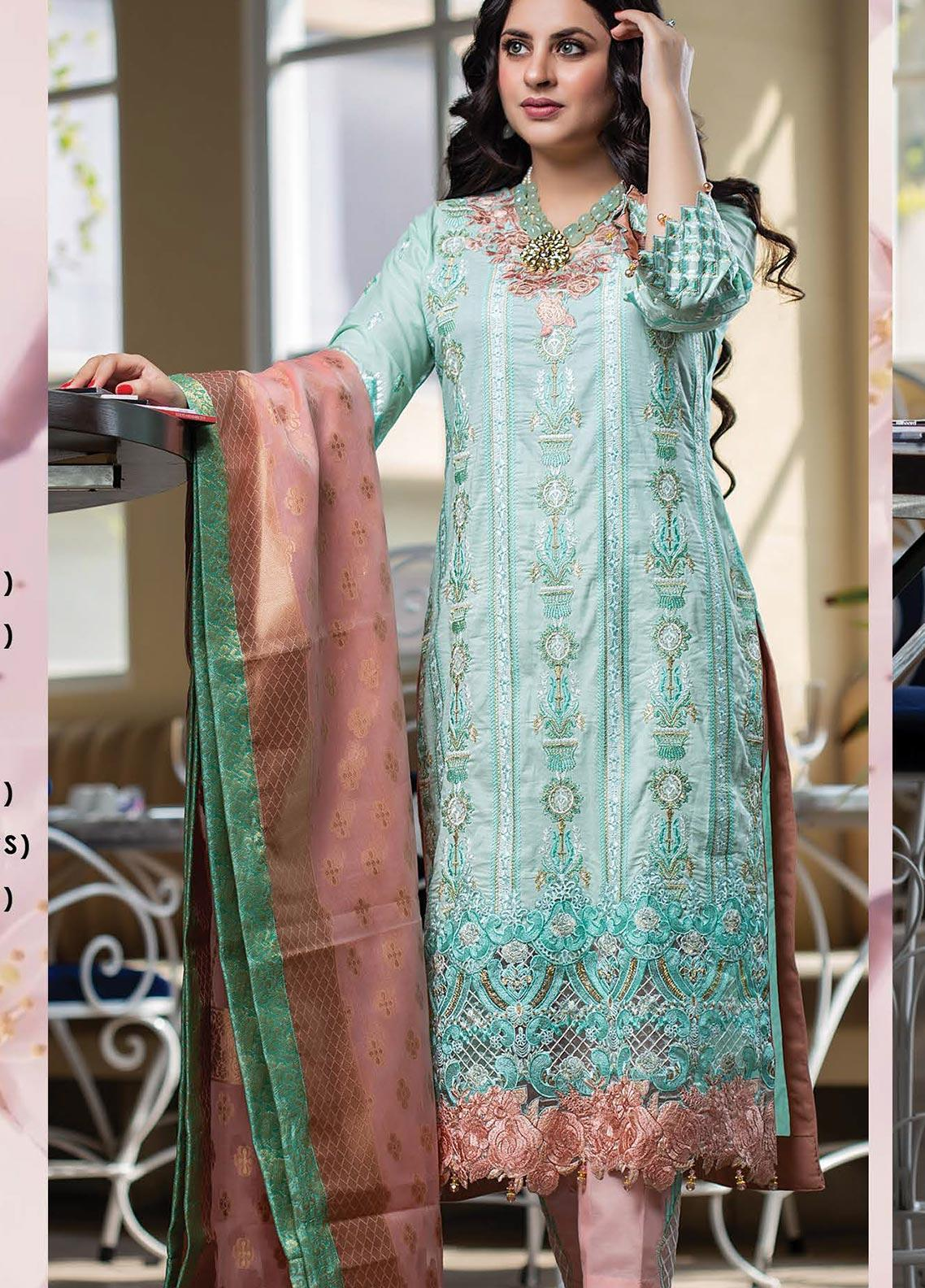 Lakha's Textiles Embroidered Lawn Unstitched 3 Piece Suit LK20HL 2 - Spring / Summer Collection