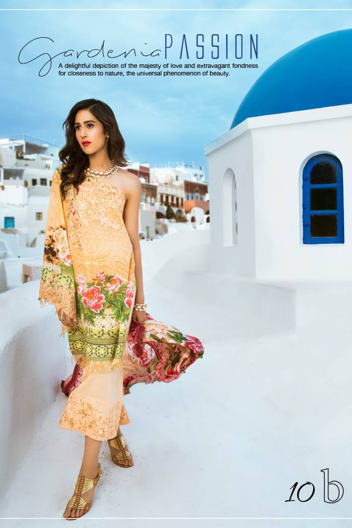 Honey Waqar By ZS Textile Embroidered Lawn Unstitched 3 Piece Suit HW17L 10B