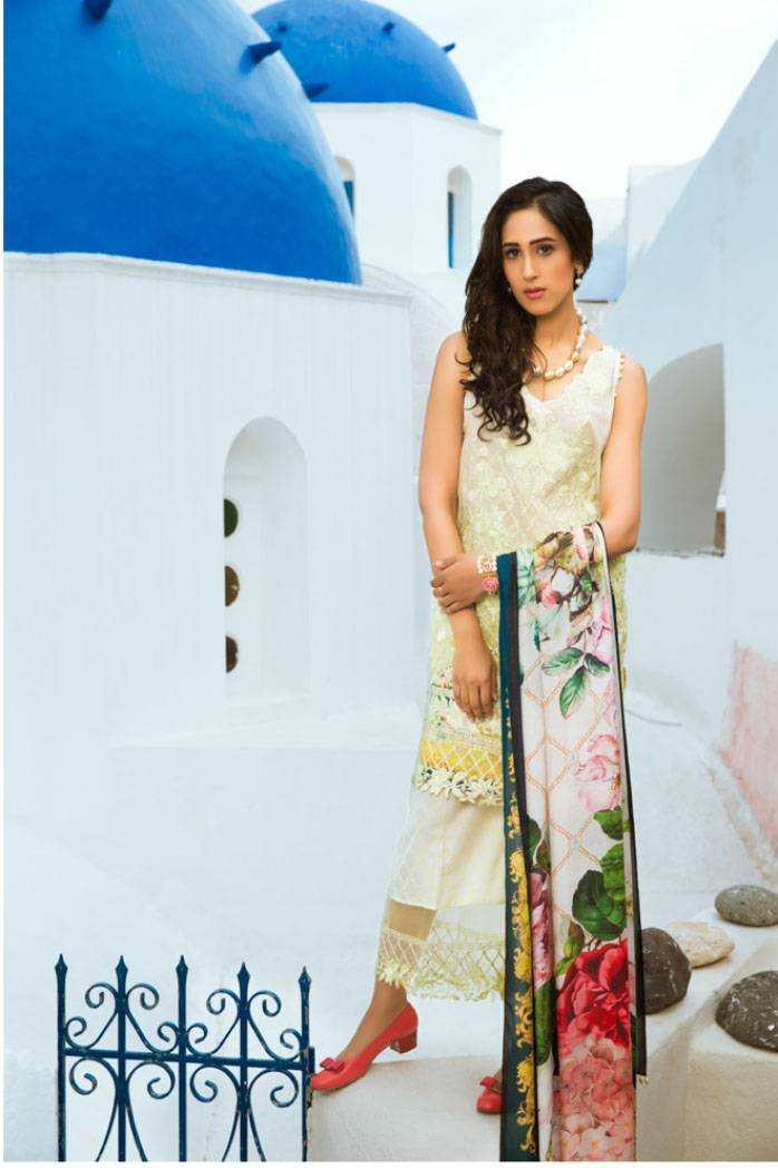 Honey Waqar By ZS Textile Embroidered Lawn Unstitched 3 Piece Suit HW17L 11B