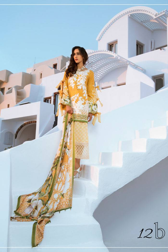 Honey Waqar By ZS Textile Embroidered Lawn Unstitched 3 Piece Suit HW17L 12B