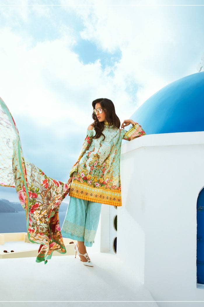 Honey Waqar By ZS Textile Embroidered Lawn Unstitched 3 Piece Suit HW17L 2A