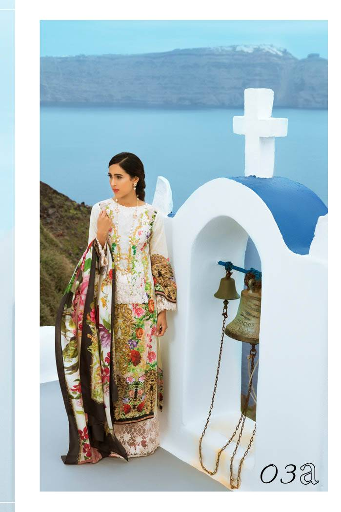 Honey Waqar By ZS Textile Embroidered Lawn Unstitched 3 Piece Suit HW17L 3A