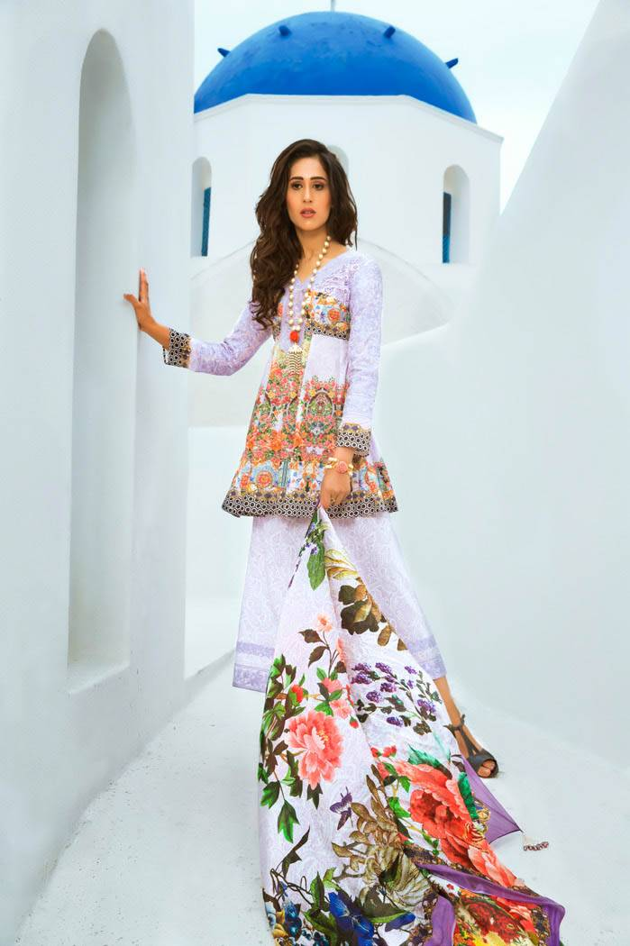 Honey Waqar By ZS Textile Embroidered Lawn Unstitched 3 Piece Suit HW17L 4A