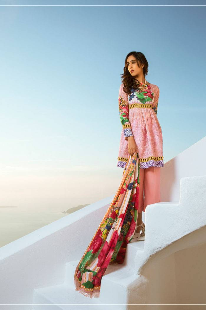 Honey Waqar By ZS Textile Embroidered Lawn Unstitched 3 Piece Suit HW17L 7B
