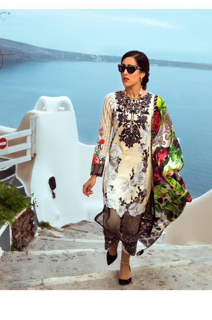 Honey Waqar By ZS Textile Embroidered Lawn Unstitched 3 Piece Suit HW17L 8B