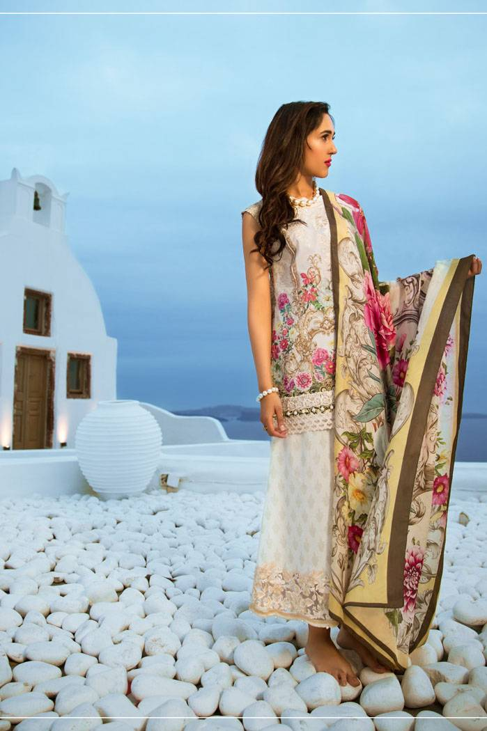 Honey Waqar By ZS Textile Embroidered Lawn Unstitched 3 Piece Suit HW17L 9A