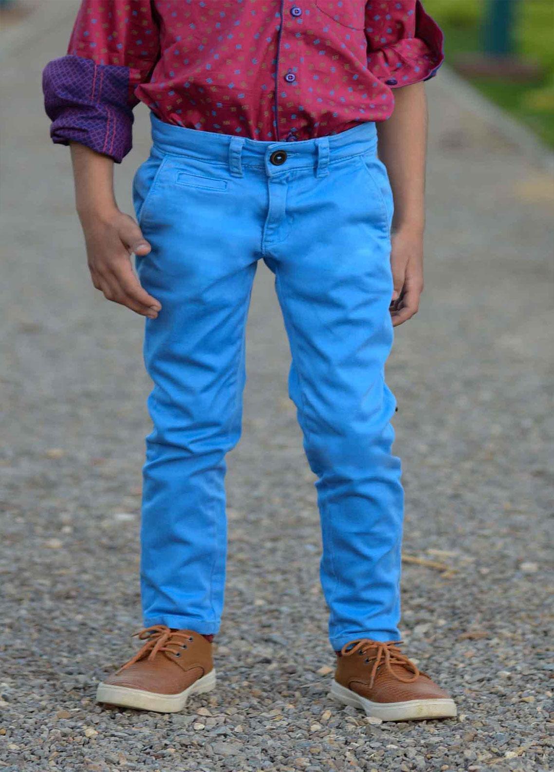 Ignite Wardrobe Cotton Chino Pants for Boys -  IG20PNK 005