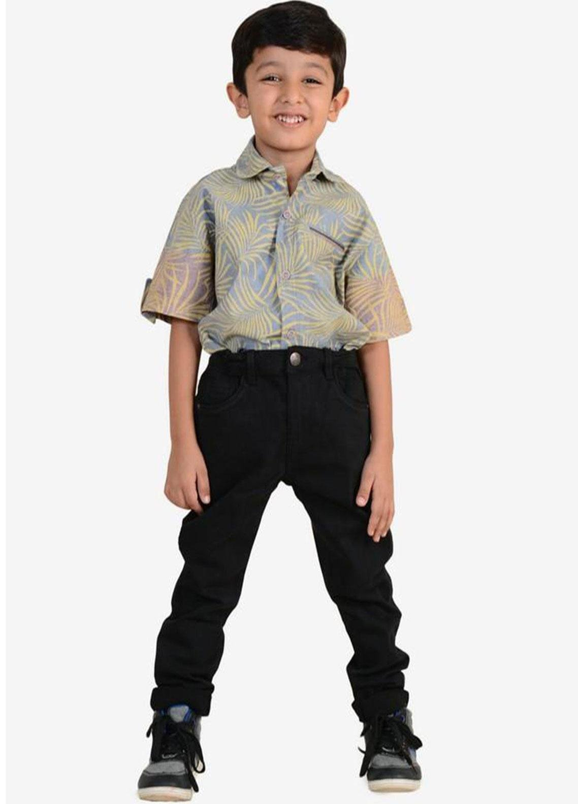 Ignite Wardrobe Cotton Casual Pants for Boys -  IG20PNK 011
