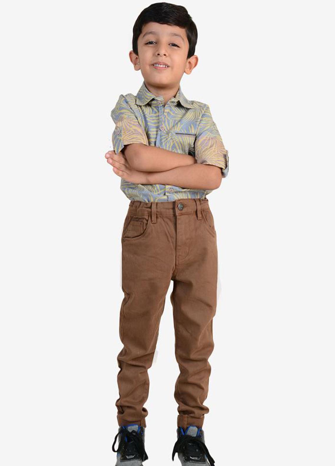 Ignite Wardrobe Cotton Casual Boys Pants -  IG20PNK 012