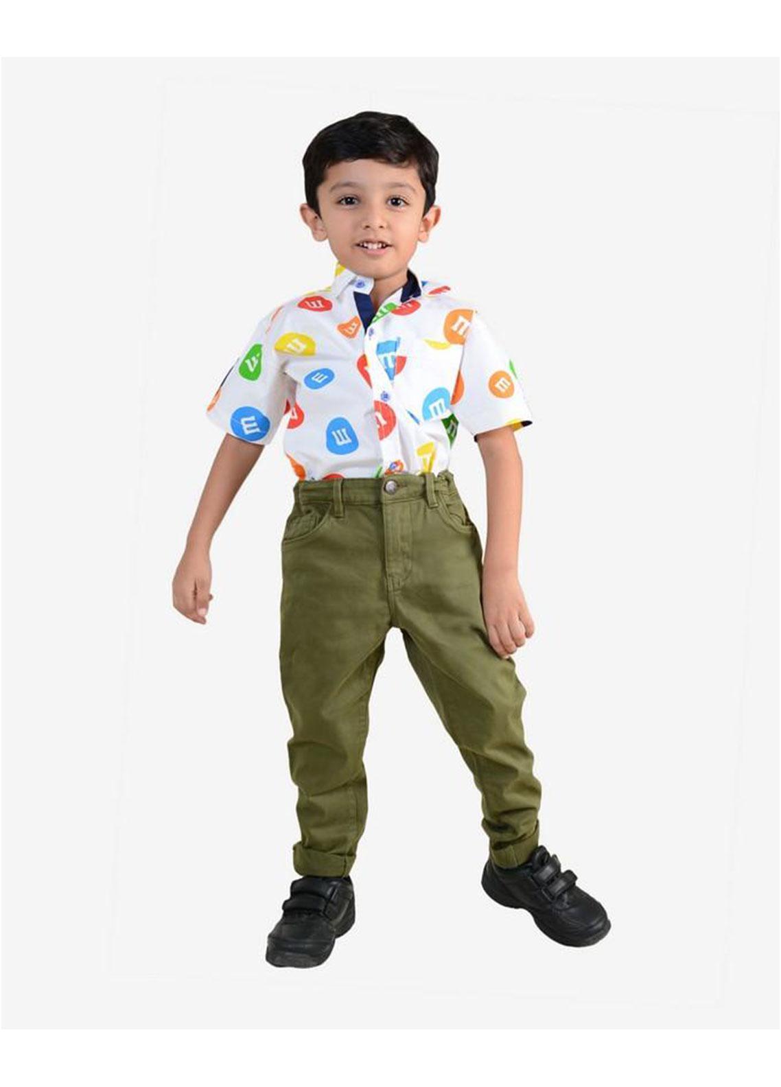 Ignite Wardrobe Cotton Casual Pants for Boys -  IG20PNK 015