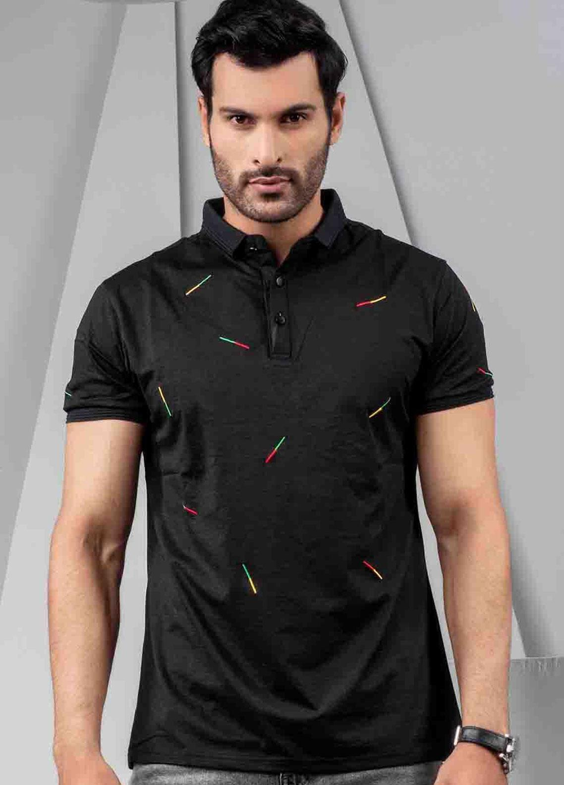 Ignite Wardrobe Polyester Embroidered Polo Shirt for Men -  IG20POM 007