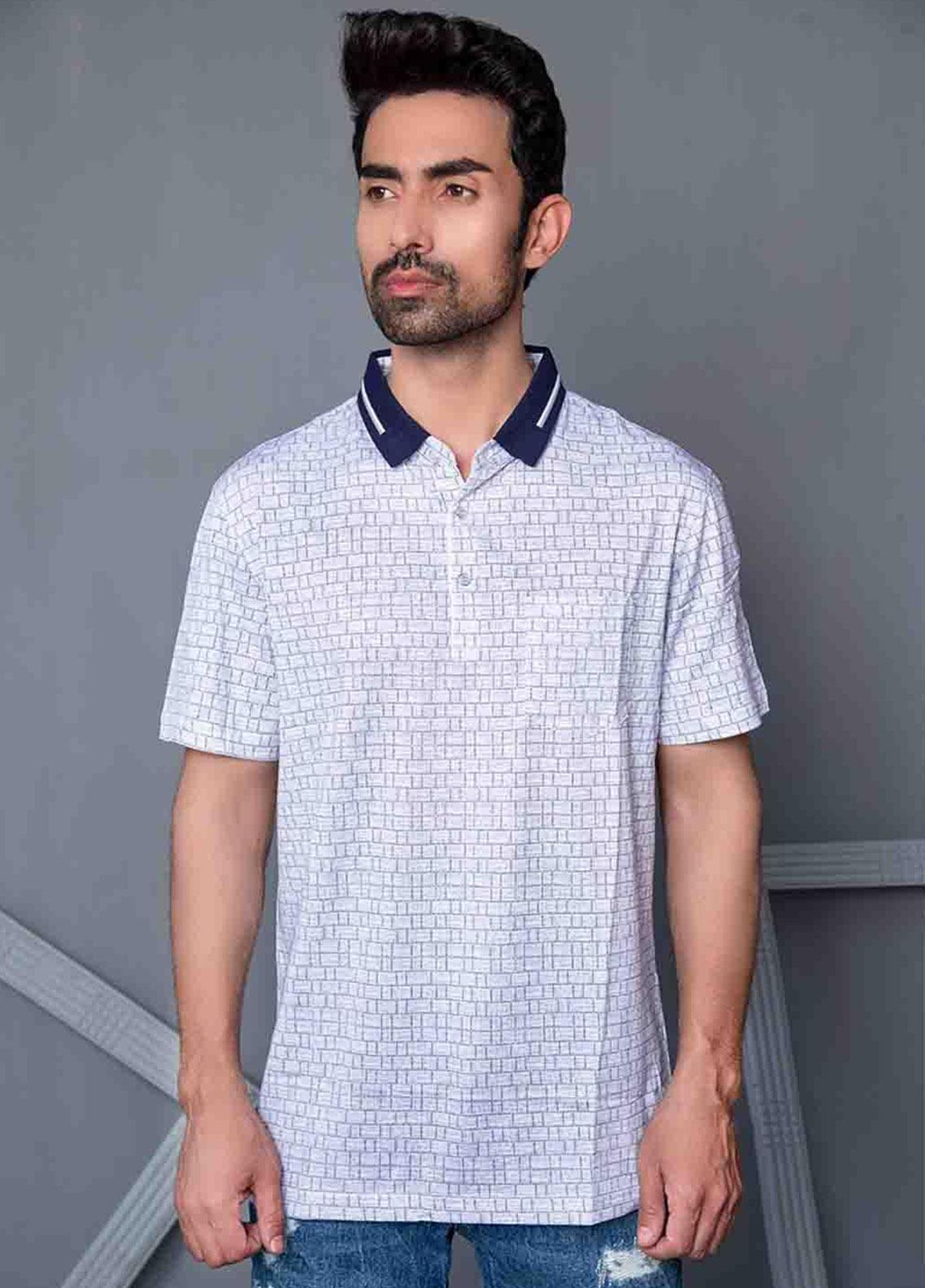 Ignite Wardrobe Cotton Printed Men Polo Shirt -  IG20POM 008