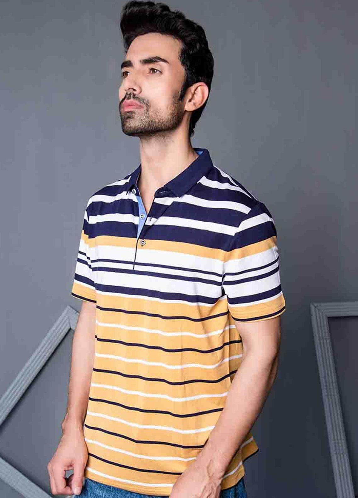 Ignite Wardrobe Cotton Printed Polo Shirt for Men -  IG20POM 009