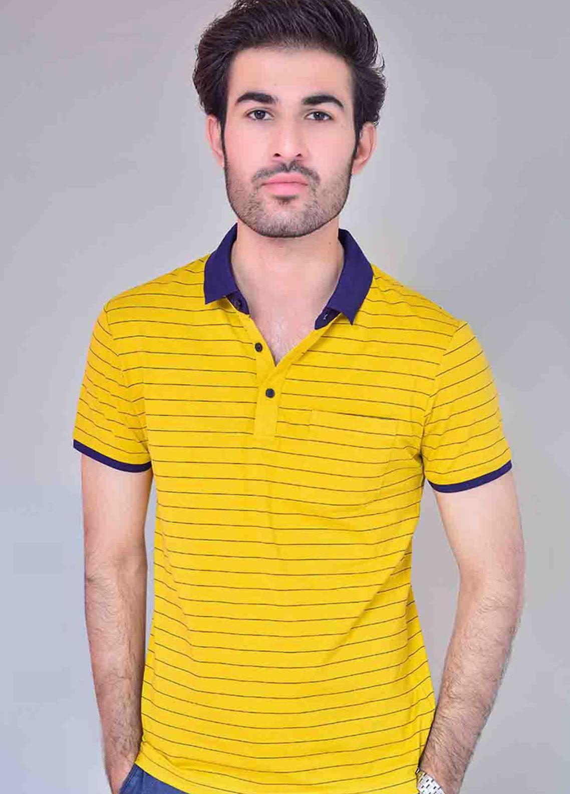Ignite Wardrobe Cotton Striped  Men Polo Shirt -  IG20POM 012