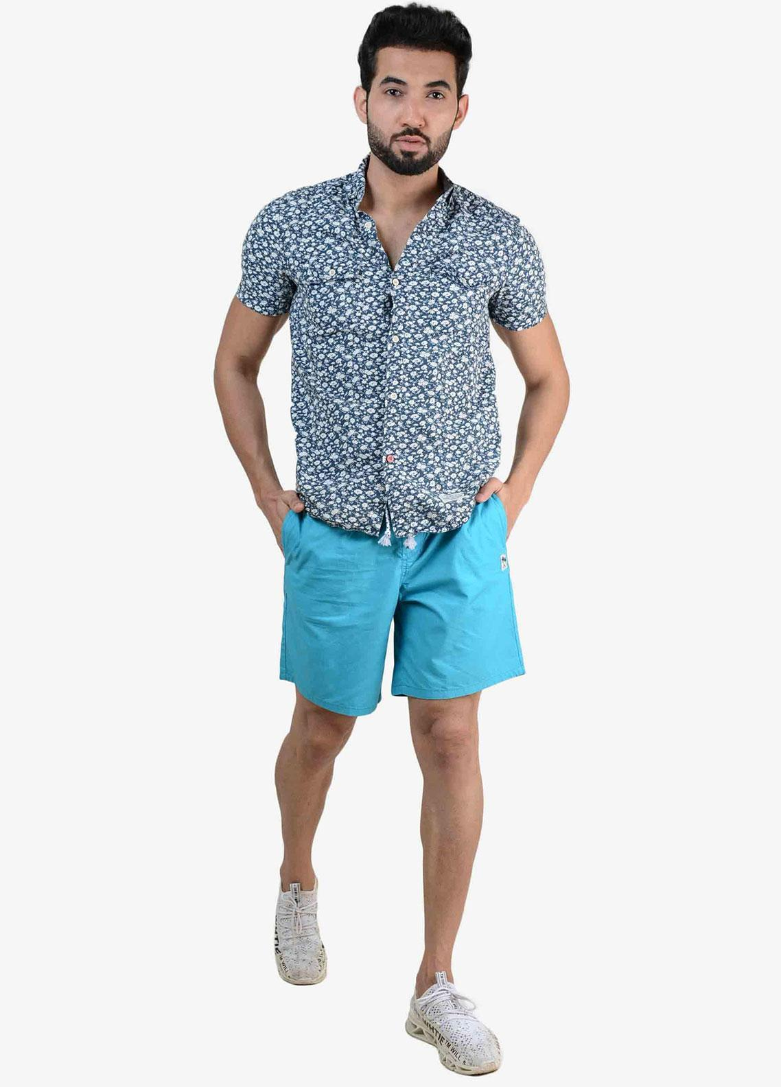 Ignite Wardrobe Cotton Bermuda Plain Shorts for Men -  IG20SOM 001