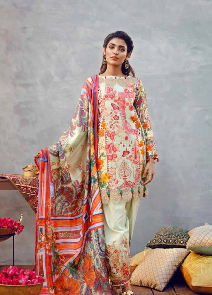 Imperial Textile Embroidered Lawn Unstitched 3 Piece Suit IM17E2 01