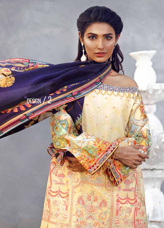 Imperial Textile Embroidered Lawn Unstitched 3 Piece Suit IM17E2 02