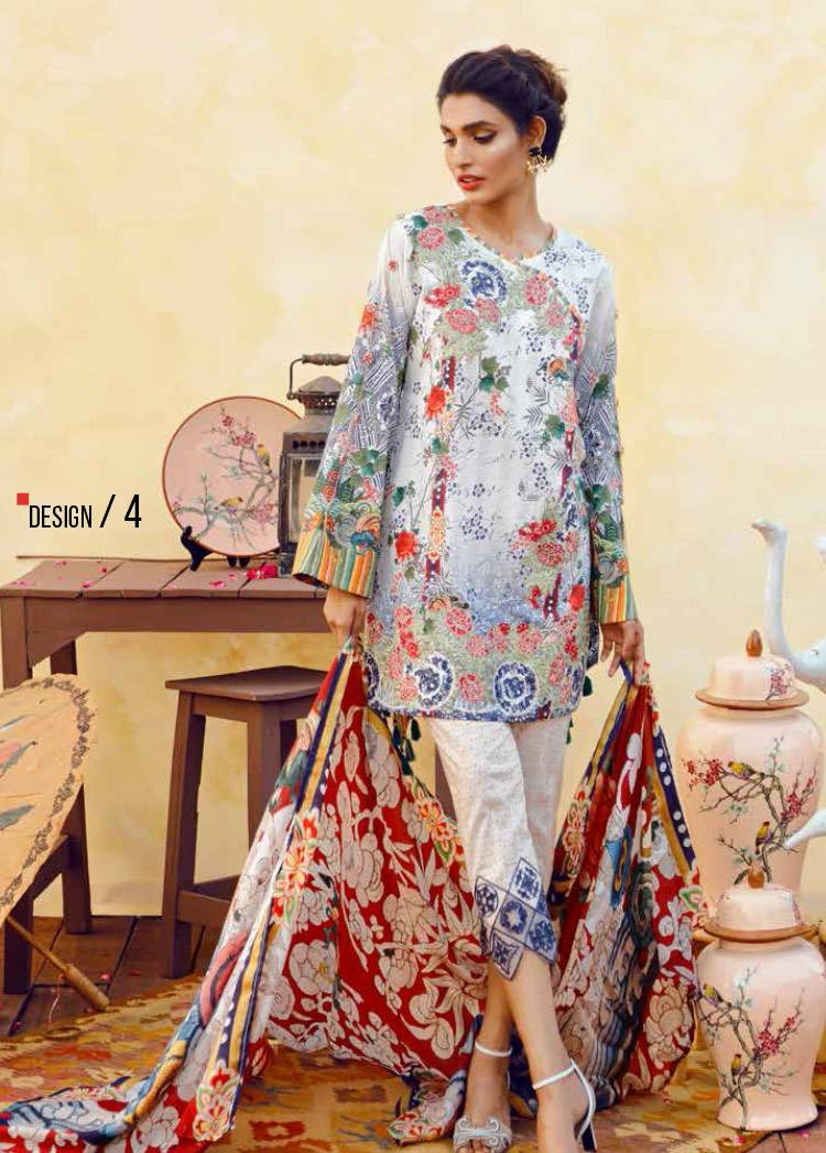 Imperial Textile Embroidered Lawn Unstitched 3 Piece Suit IM17E2 04
