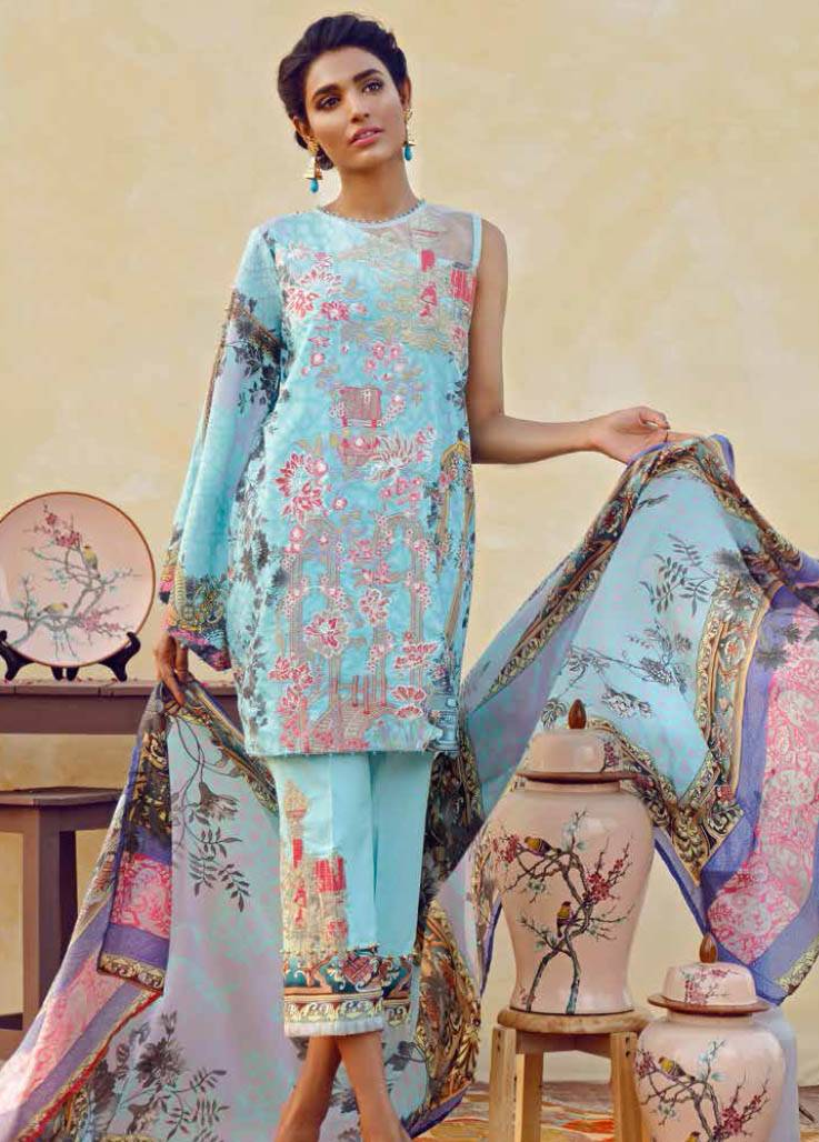 Imperial Textile Embroidered Lawn Unstitched 3 Piece Suit IM17E2 07