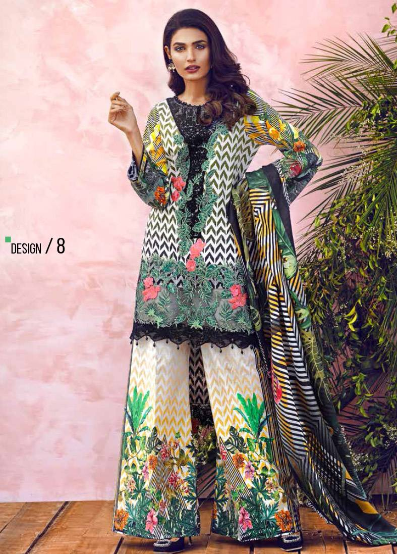 Imperial Textile Embroidered Lawn Unstitched 3 Piece Suit IM17E2 08