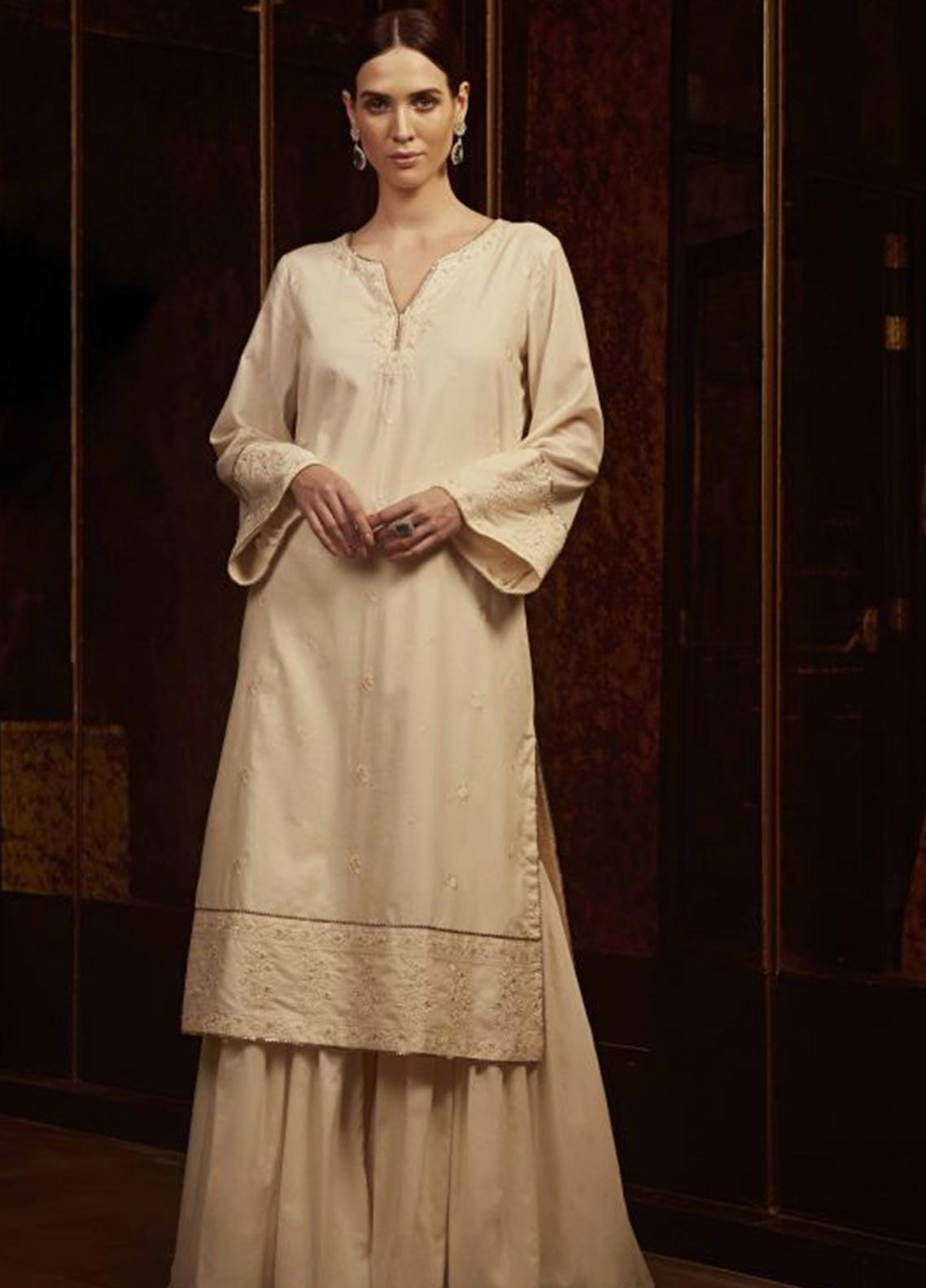 Image Embroidered Cotton Stitched Kurtis P 884 CHATEAU ROSE