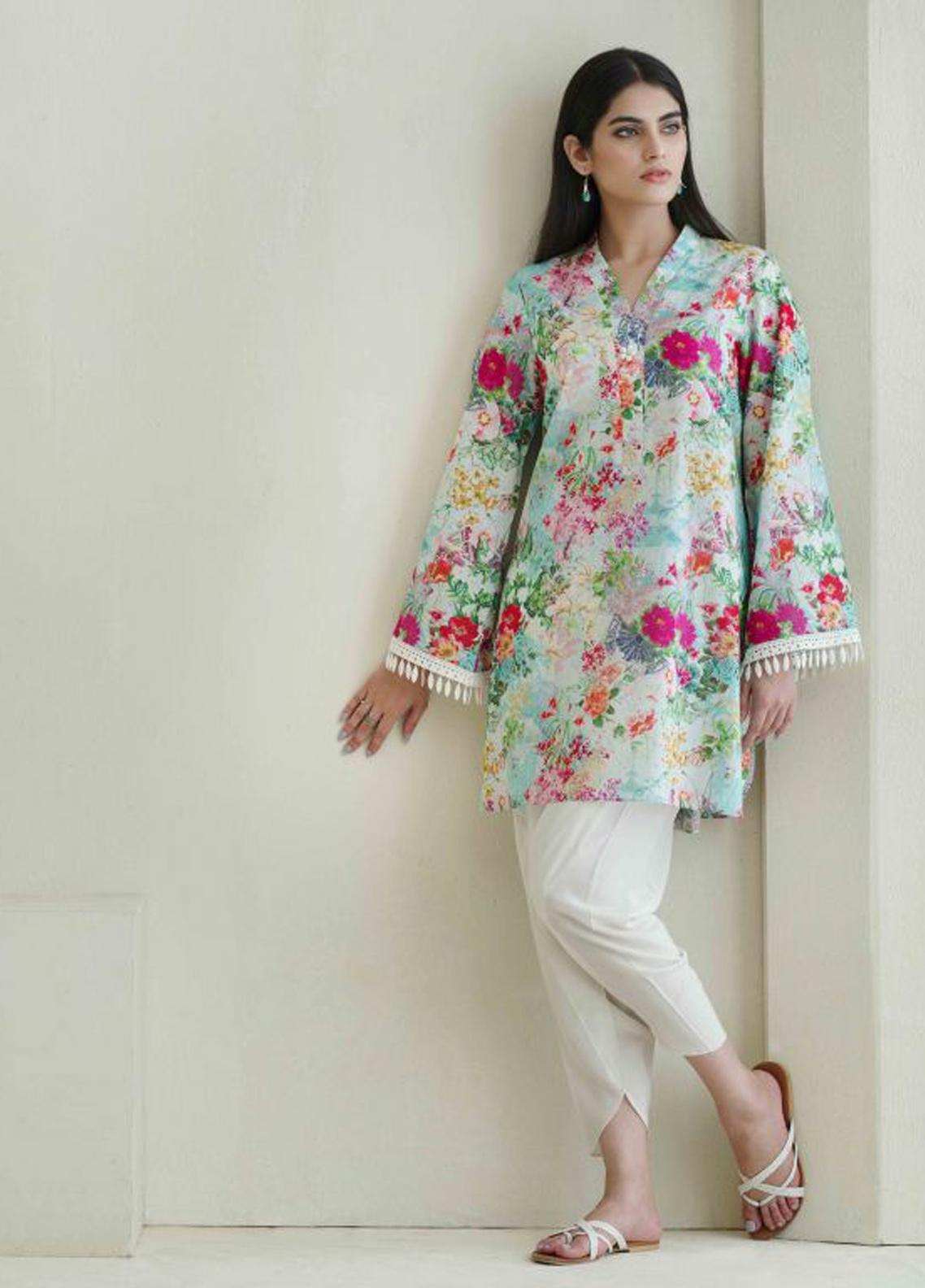 Image Printed Cotton Stitched Kurtis IMG19PP 767 FLORAL BUEST