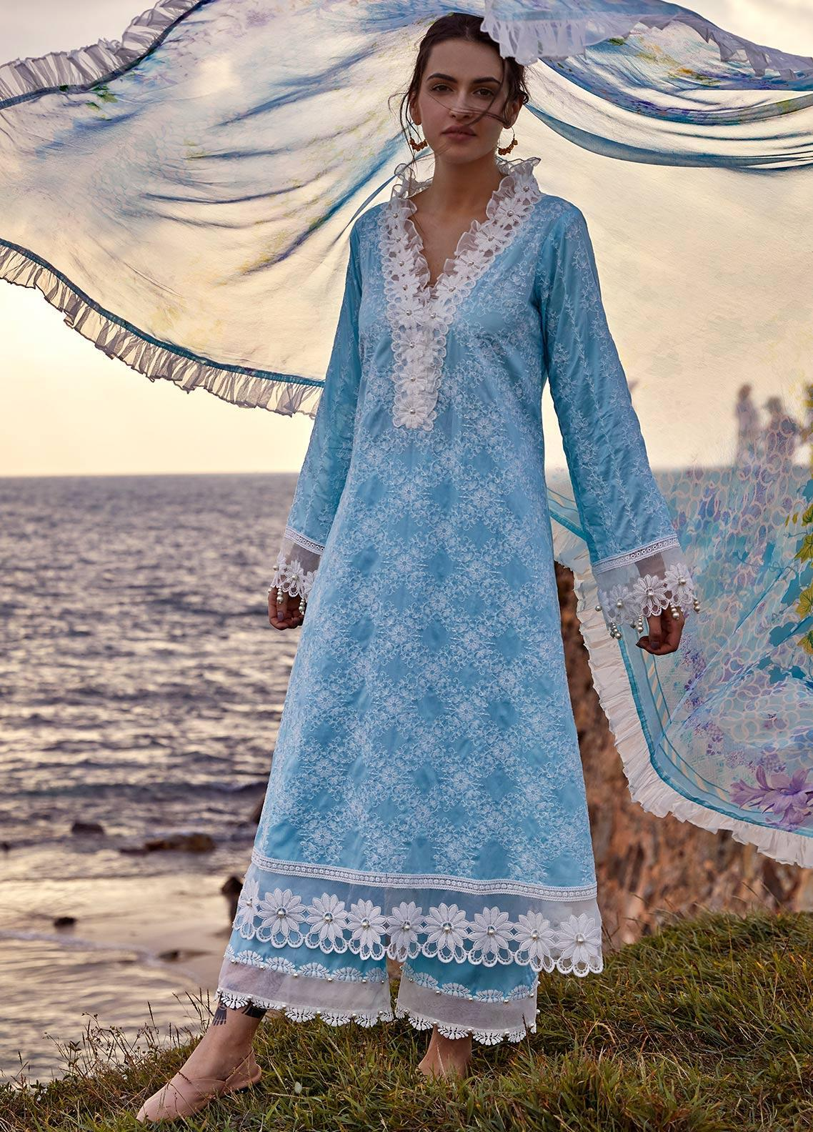 Image Embroidered Cotton Unstitched 3 Piece Suit IMG19LK 15 RALA - Luxury Collection