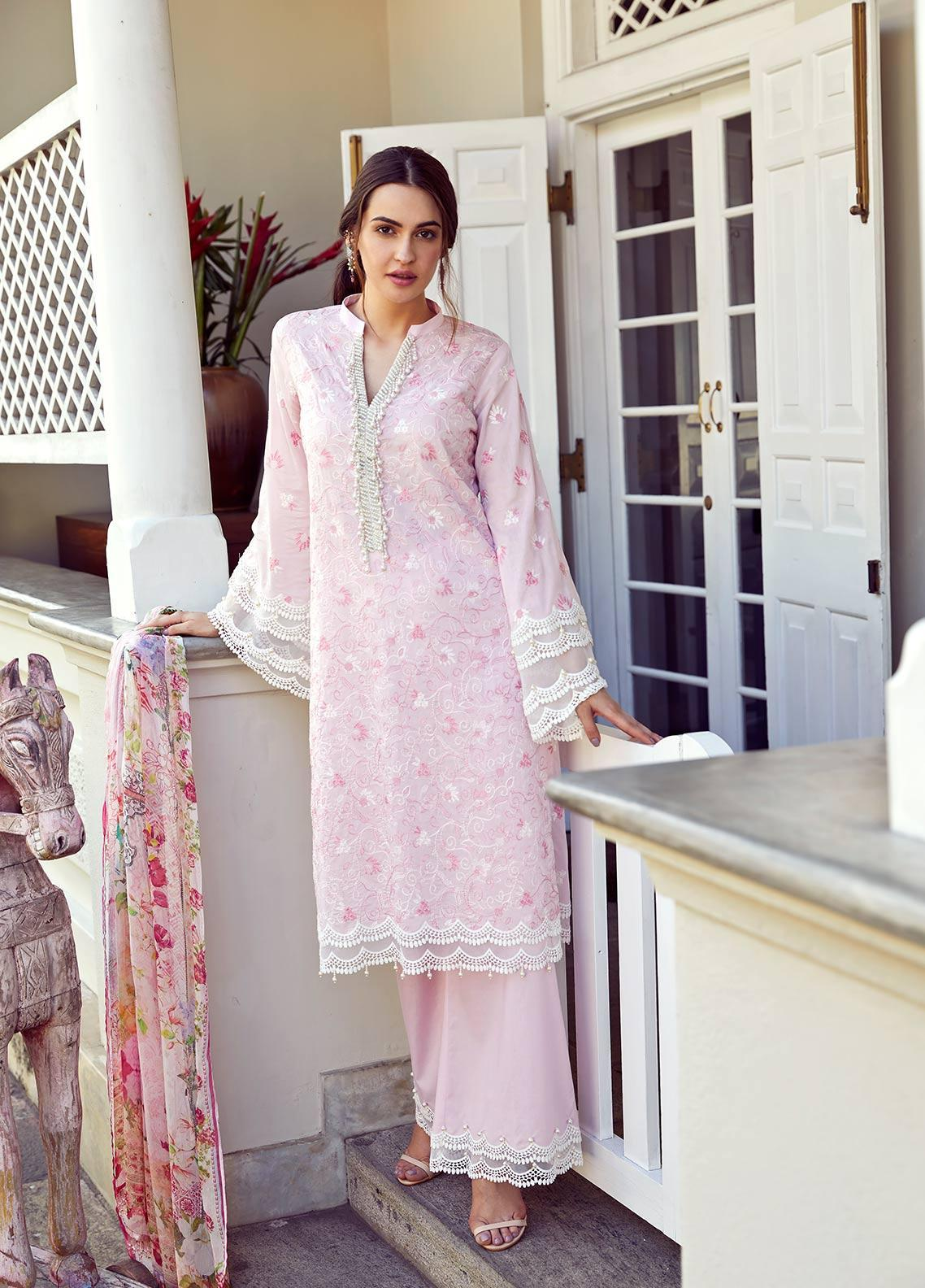 Image Embroidered Cotton Unstitched 3 Piece Suit IMG19LK 23 MIHIRI - Luxury Collection