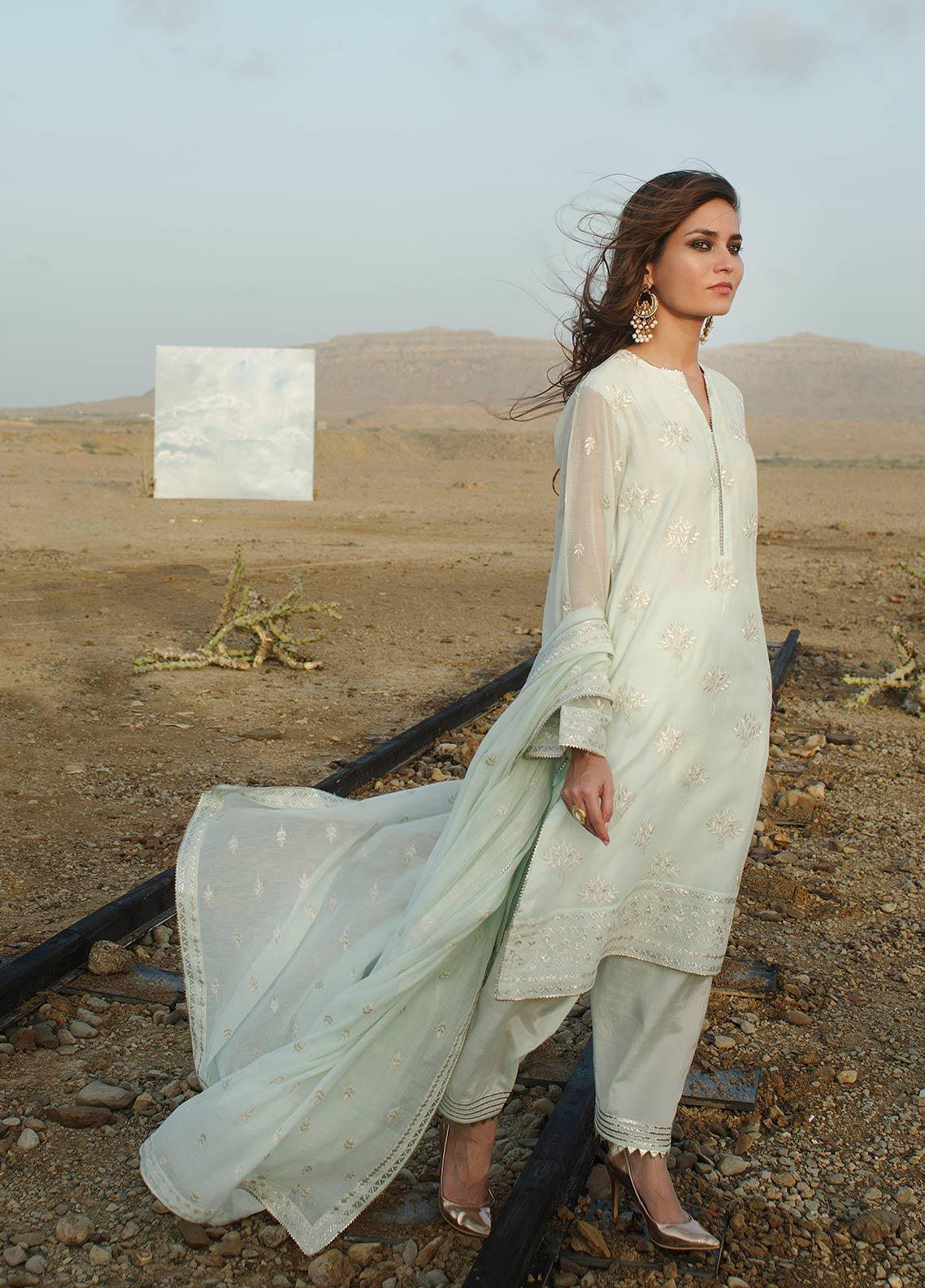 Image Embroidered Cotton Unstitched 3 Piece Suit IMG19LE US-3 AYLA - Festive Collection