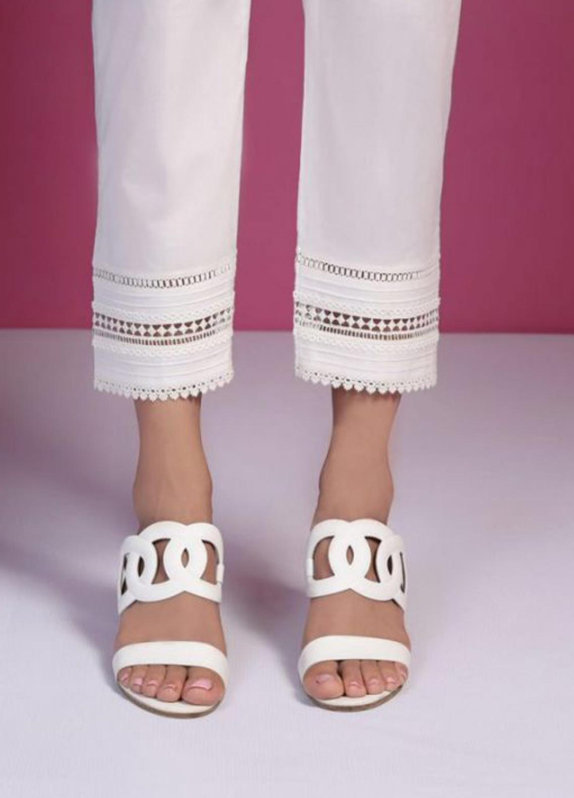 Image Cotton Stitched Pants Embellished with Laces IMG19B T-216 Nile