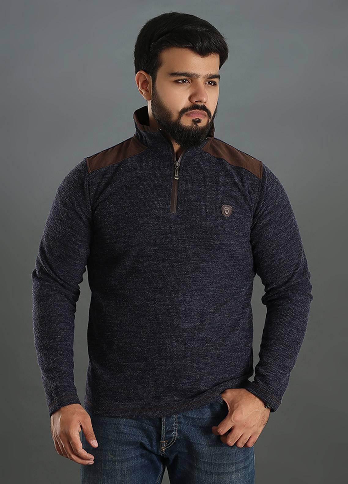 Sanaulla Exclusive Range Jersey Full Sleeves Men Tees - Grey SAM18TS 16