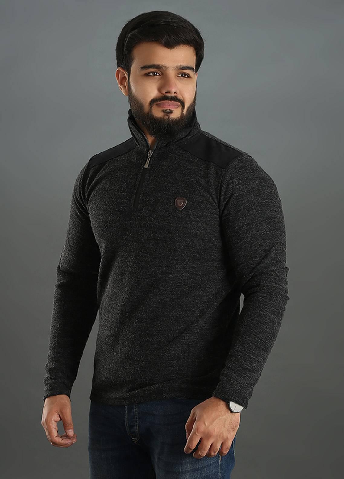 Sanaulla Exclusive Range Jersey Full Sleeves Tees for Men - Black SAM18TS 17