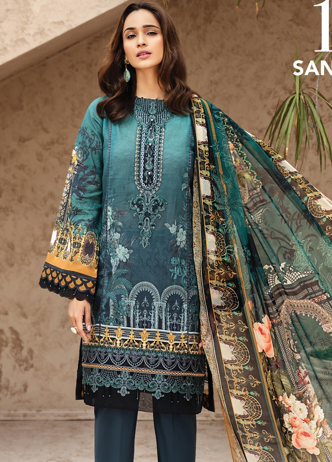 IRIS by Jazmin Embroidered Lawn Unstitched 3 Piece Suit JZ20I 10 - Summer Collection