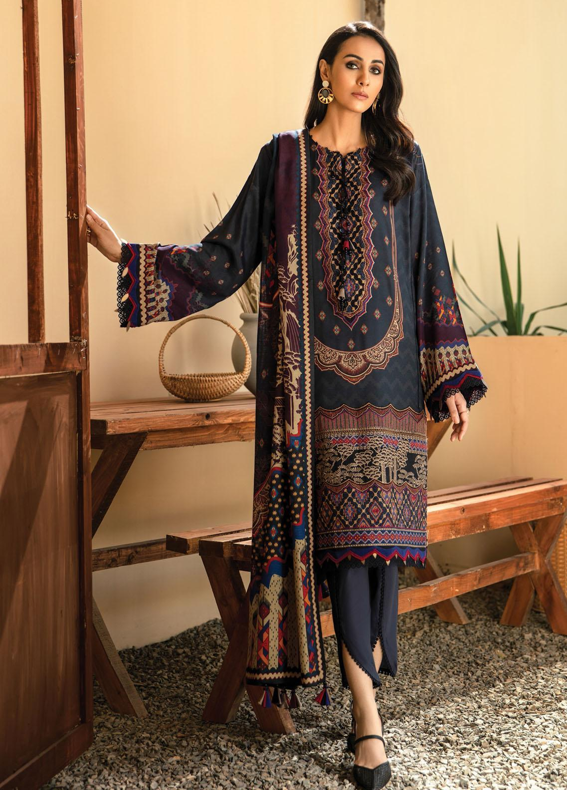 IRIS VIRSA by Jazmin Embroidered Linen Unstitched 3 Piece Suit JZ20IV 05 Parvaneh - Winter Collection