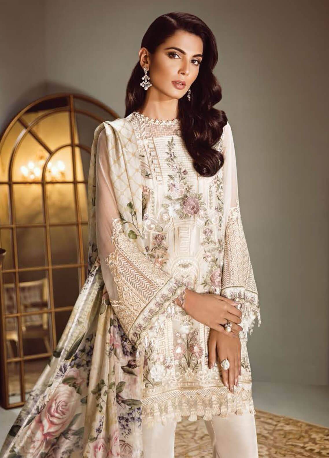 462e6e07a0 Isabella By Baroque Embroidered Chiffon Unstitched 3 Piece Suit IS18C 10 -  Luxury Collection