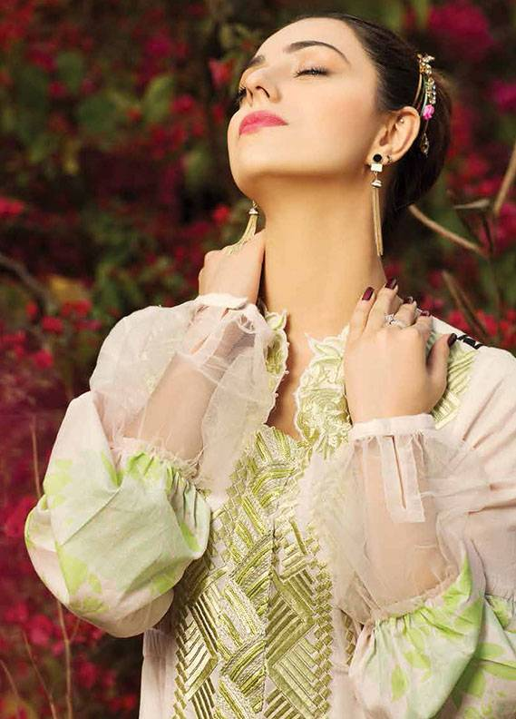 Ittehad Textiles Embroidered Lawn Unstitched 3 Piece Suit IT18L FRAGANT FLEUR A - Spring / Summer Collection