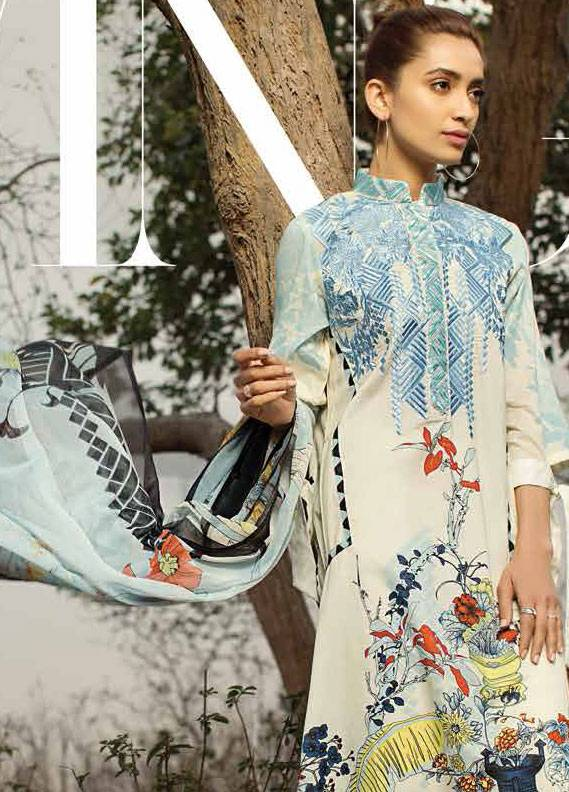 2f420c9baa Ittehad Textiles Embroidered Lawn Unstitched 3 Piece Suit IT18L FRAGANT  FLEUR B - Spring / Summer