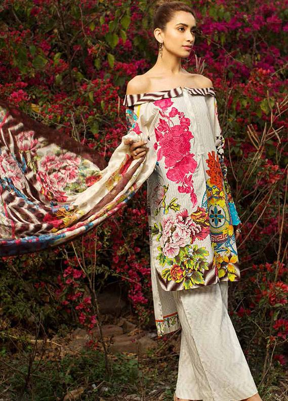 Ittehad Textiles Embroidered Lawn Unstitched 3 Piece Suit IT18L ICY MORN B - Spring / Summer Collection