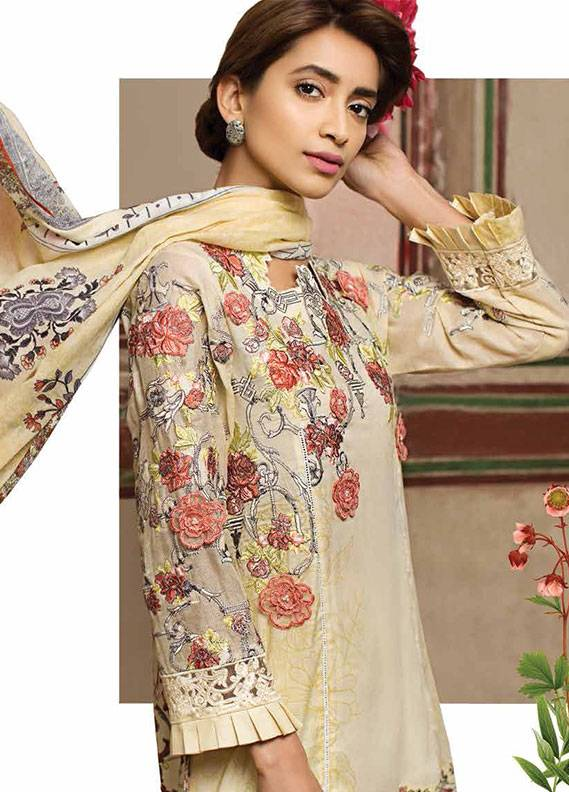 Ittehad Textiles Embroidered Lawn Unstitched 3 Piece Suit IT18L LACY FLORET A - Spring / Summer Collection