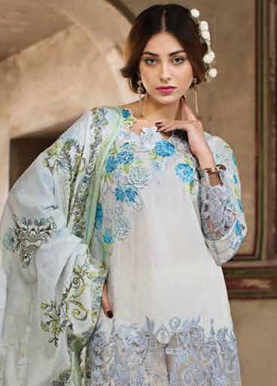Ittehad Textiles Embroidered Lawn Unstitched 3 Piece Suit IT18L LACY FLORET B - Spring / Summer Collection