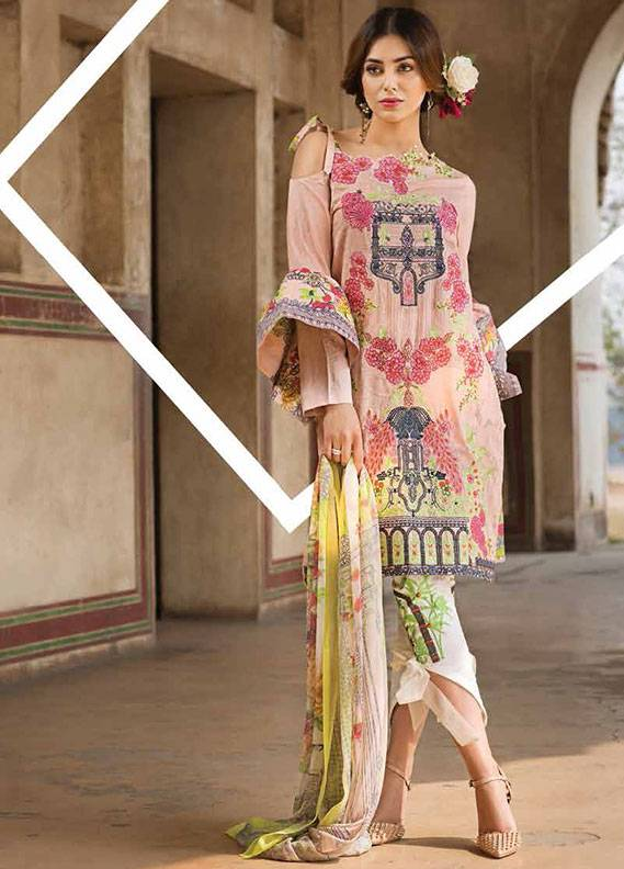 Ittehad Textiles Embroidered Lawn Unstitched 3 Piece Suit IT18L NASTURTIUM B - Spring / Summer Collection