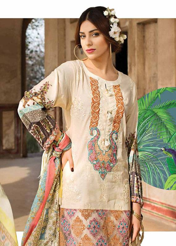 Ittehad Textiles Embroidered Lawn Unstitched 3 Piece Suit IT18L WILD PLUM B - Spring / Summer Collection
